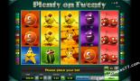 play slot machines Plenty on twenty Greentube