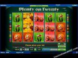 play slot machines Plenty on Twenty Novomatic